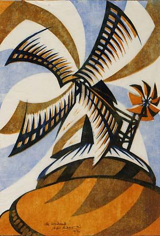 Sybil Andrews - The windmill 1933